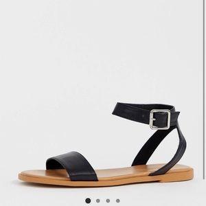 ASOS DESIGN Wide Fit Viva Flat Sandals